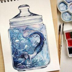 Watercolor Sketch, Sketch Painting, Watercolour Painting, Bottle Drawing, Light Bulb Art, Shark Art, Colorful Drawings, Art Drawings, Bottle Art