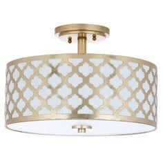 Safavieh Lighting Kora 3 Light 15-Inch Flush Mount | Overstock.com Shopping - The Best Deals on Flush Mounts