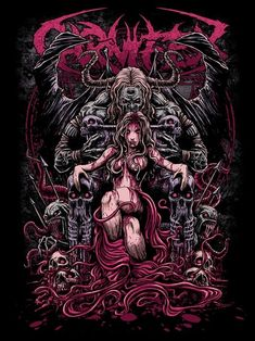 still one of my fav's I did for Carnifex. Dark Artwork, Dark Art Drawings, Metal Artwork, Arte Horror, Horror Art, Rauch Tattoo, Arte Punk, Heavy Metal Art, Funny Wallpapers