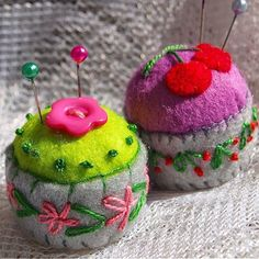 Mini pincushions with #cactus and #cherry themed design - available in the shop. . . #makingpeoplehappy #thecraftdesk #handmade #felt #cacti #cactusflower #flower #cherries #minipincushion #miniature #pincushion #bottlecap #pins #miniaturepincushion #bottlecappincushion #recycle #sewing #lovesewing #lovehandmade #makersgonnamake