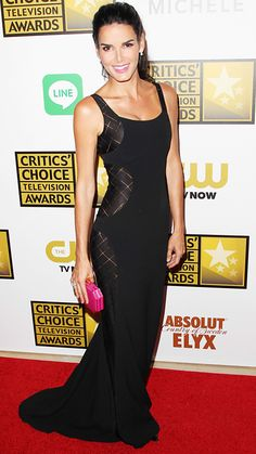 The 2014 Critics' Choice Television Awards Red Carpet - Angie Harmon from #InStyle