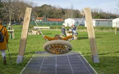 Playground Equipment - Playground Swings Playground Swings, Balance Beam, Multiplication For Kids, Kew Gardens, Technical Drawing, Architect Design, Beams, Hardwood, Basket