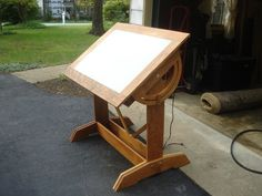 Diy Woodworking Drafting Tables Light Table Cherry