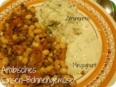 From Veggie to Vegan: Arabisches Linsen-Bohnengericht mit Zitronenreis und Minzjoghurt