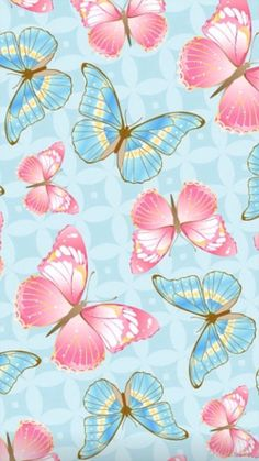 Wall Paper Phone Pink Backgrounds 26 Ideas For 2019 Painting Wallpaper, Flower Wallpaper, Wallpaper Backgrounds, Iphone Wallpaper, Pink Painting, Iphone Backgrounds, Blue Butterfly Wallpaper, Paper Butterflies, Butterfly Art