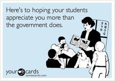 Teacher humor. Teacher laughs. Appreciation.