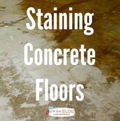 Staining Your Concrete Floor | TodaysCreativeBlog.net #LowesCreator
