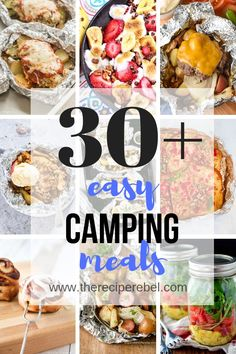 These easy Camping Meals are perfect for on-the-go, over the fire and making ahe. These easy Camping Meals are perfect for on-the-go, over the fire and making ahead! Foil pack dinners, campfire meals and cast iron recipes to bring along! Camping Snacks, Camping Food Make Ahead, Best Camping Meals, Camping Breakfast, Camping Recipes, Camping Cooking, Backpacking Meals, Campfire Cooking Recipes, Camping Menu