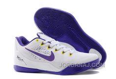 Free Shipping 6070 OFF Nike Kobe 9 EM Home WhiteCourt Purple For Sale
