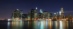 Eazywallz  - Panorama of Illuminated New York City Wall Mural, $133.31 (http://www.eazywallz.com/panorama-of-illuminated-new-york-city-wall-mural/)