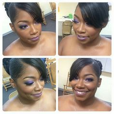 My sister in law on her wedding day. STUNNING!!!! Make up courtesy of @makeupnbeyond #purple #purplemakeup #purpleeyeshadow #purplelipstick #bride #bridalmakeup