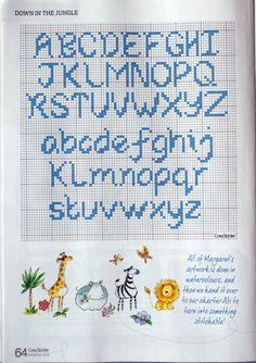 abecedario en punto de cruz - Buscar con Google