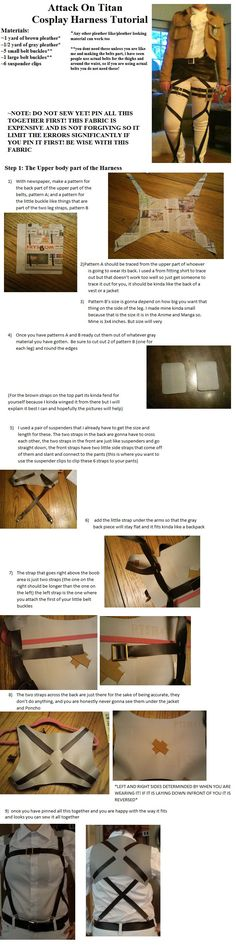 Attack on Titan Harness Tutorial Part 1 by CasuallyDisregarding.deviantart.com on @deviantART <3