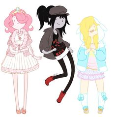 Adventure Time. I love this! The outfit PB is wearing is adorably Lolita!