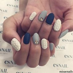 Uñas tejidas o cable knit nails | ActitudFEM