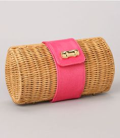 Nothing says summer like a straw clutch