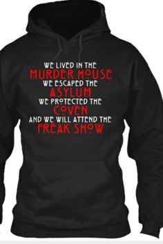 American Horror Story dream hoodie!!!  While supplies last, don't wait!!!  Buy it here!