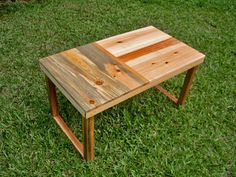 I love that this was made from reclaimed wood pallets!