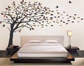 Tree with Monkeys Giraffe and Birds Wall Decals - Baby Nursery Wall Decals. $149.00, via Etsy.