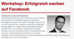 """Unser nächster Workshop mit Sascha Theismann zum Thema """"Erfolgreich werben auf Facebook"""" findet am 21. Juni statt!"""