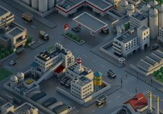 Mini City 01 on Behance Isometric Art, Isometric Design, Cinema 4d, 3d Design, Game Design, Low Poly Car, Low Poly Games, Polygon Art, Low Poly 3d Models
