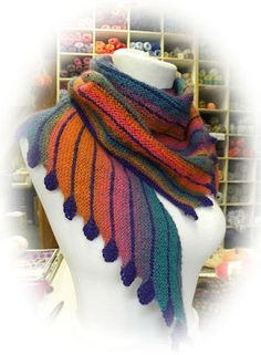 Beautiful colors - Ravelry Leftie Scarf by Martina |Behm