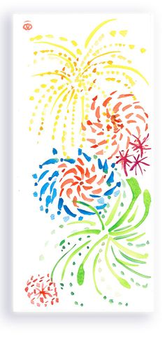 Baby You're a Firework Zen Enlightenment fine art Painting for Valentine,  Birthday, Summer, 4th of July Love by ZenBrush