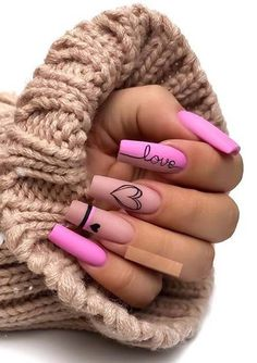 Still can't find the best nails arts and designs to go before on your special occasion nowadays? Just see here awesome pink nail arts for long and medium nails to show off in year Pink Nail Art, Summer Acrylic Nails, Best Acrylic Nails, Edgy Nail Art, Aycrlic Nails, Swag Nails, Fire Nails, Coffin Nails Long, Dream Nails