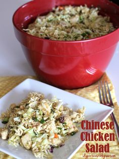 Crunchy Chinese Chicken Salad on MyRecipeMagic.com
