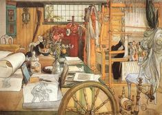Carl Larsson is one of my favorites.  So much detail.