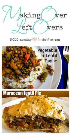 Making over left over Lentil Vegetable Tagine into Moroccan Lentil Pie