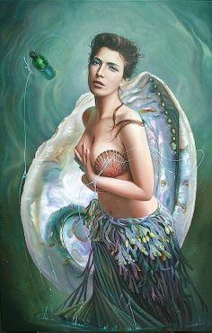 Christiane Vleugels Paintings   Realism by Christiane Vleugels   Mystical Mermaids