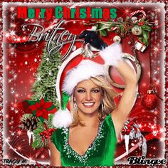 christmas music britney spears | in the music stars blue and white ...