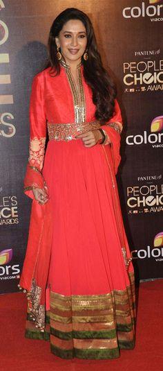 #Madhuri #ManishMalhotra love this Manish on Madhuri - color length all of it
