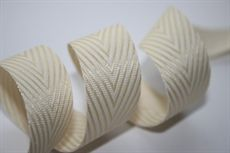 Show details for 20mm Twill Stripe CHAMPAGNE / WHITE