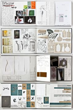 Graphic Design students sometimes forget about the wide range of mixed mediums that can be used to extend and develop their projects. This sketchbook page contains stitching and other collaged materials alongside topographical map drawings. The simplicity of the page causes it to look like a contemporary artwork, unmarred by over-embellishment.
