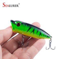 Topwater Fishing Popper Hard Bait 6.5cm 12g 1pcs/lot Floating Wobbler Plastic Lure Pesca Crankbait Fish Tackle 5 Color Available