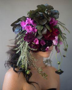 """""""flower face"""" portraits by Kristen Hatgi http://www.kristenhatgi.com Bonnie, 2013"""