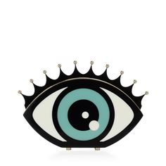 eye want you clutch+charlotte olympia