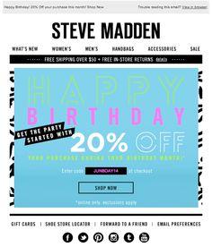 Steve Madden birthday email 6/2014