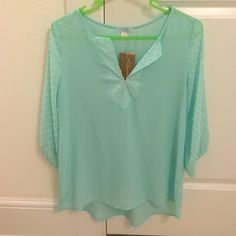 NWT mint blouse never worn Francesca's Collections Tops Blouses