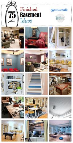 75 Plus Finished Basement Remodeling Ideas