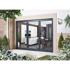 Black French Doors, French Doors Patio, Exterior French Doors, Modern Patio Doors, Exterior Doors With Glass, Glass Front Door, Exterior Patio Doors, Exterior Folding Doors, Folding Patio Doors