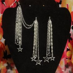 Super Star Ear Cuff and Earrings with Detachable by landofFayelon