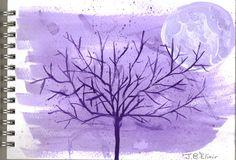 Tree in the Moonlight by gaarasdarkangeljazz.deviantart.com on @deviantART