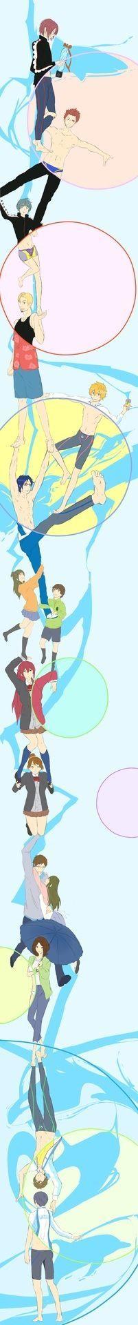 Free! Iwatobi Swim Club and Durarara! crossover! two of my favorite anime