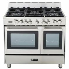 Amazon.com: Verona VEFSGE365DSS 36 inch Double Oven Dual Fuel in Stainless Steel: Appliances