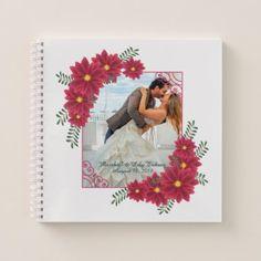 Elegant Add Your Own Photo Wedding | Notebook - Saint Valentine's Day gift idea couple love girlfriend boyfriend design
