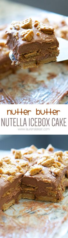 Nutter Butter Nutella Icebox Cake