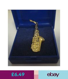 High Quality Collectable Badges Alto Saxophone Lapel Pin Badge Brooch Music Gift Sax  Saxaphone   Gift Boxed #